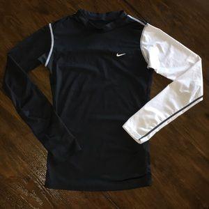 Black and white Nike long sleeve